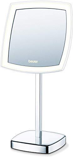 Beurer BS 99 Miroir sur pied, miroir de beauté à LED, pour le maquillage, grossissement 5x, sur piles ou secteur