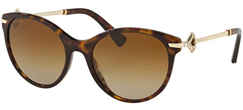 Sonnenbrillen Bvlgari Diva's Dream BV 8210B Dark Havana/Brown Shaded Damenbrillen