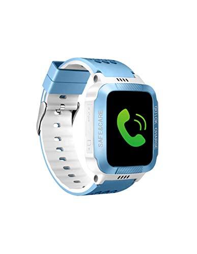 Roneberg RQ528 - Reloj inteligente con localizador GPS y botón de llamada de emergencia SOS, valla electrónica, color blanco