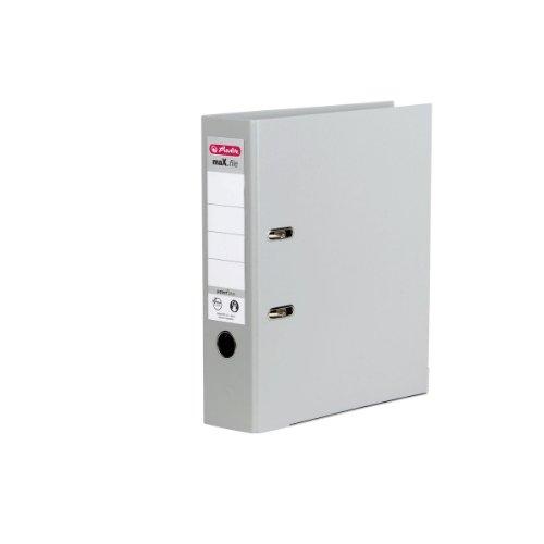 Herlitz 10834372 Ordner maX.file protect+ (A4, 8 cm) grau
