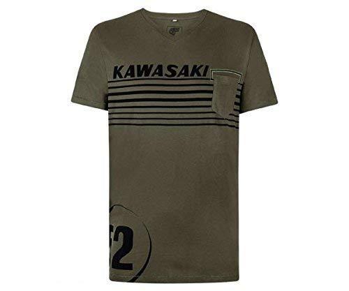 Kawasaki 52 T-Shirt kurzarm dunkelgrün Größe S