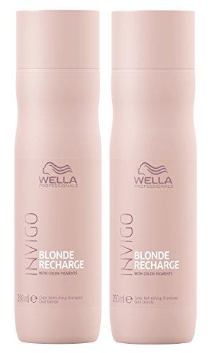 2er Color Recharge Cool Blonde Shampoo Invigo Wella Professionals Farbaufrischung je 250 ml = 500 ml