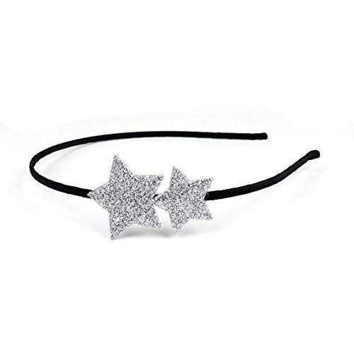 rougecaramel - Accessoires cheveux - Serre tête étoile paillettes - argenté