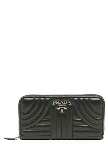 Prada Luxury Fashion Damen 1ML5062B0XF0002 Schwarz Leder Brieftaschen | Jahreszeit Permanent