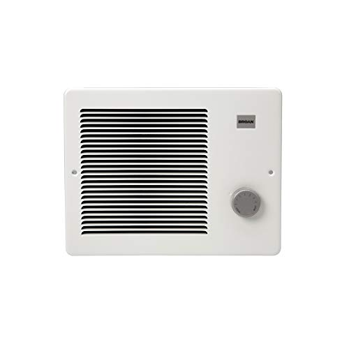 Broan-NuTone 174 Painted Grille Wall Heater, 750/1500 Watt 120 VAC, White Enamel Steel