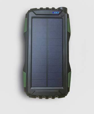 GPWDSN oplader op zonne-energie, 25000 mAh, draagbare powerbank op zonne-energie met dual-USB-poort, oplader op zonne-energie met LED-zaklamp voor iPhone, iPad, Android-mobiele telefoons en meer