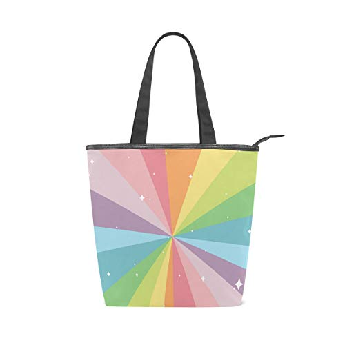 Rootti - Bolso de lona para mujer, diseño de arco iris