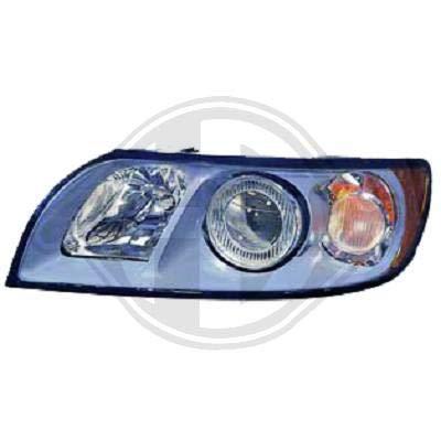 7614083; koplamp links (bestuurderszijde) voor V. S40/V50 van 2004 tot 2007 originele look