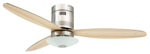 plafondventilator met verlichting en afstandsbediening Aero - 132 cm, voor ruimtes tot 25 m2