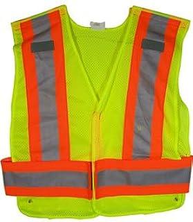 ANSI 207-2006 Public Service Safety Vests in Mesh Lime Standard Size Osobiste wyposażenie ochronne