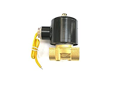 3/8 Solenoid Valve 110v/115v/120v DC Brass Electric Air Water Gas Diesel Normally Closed NPT from JEM&JULES