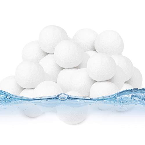 Bluelves Bola de Filtro de Piscina,Bolas Filtrantes,500g Filter Balls Alternative para 18 KG Filtro de Arena, para Piscina, Filtro de Arena para Piscina, Medios, Filtrado de Agua