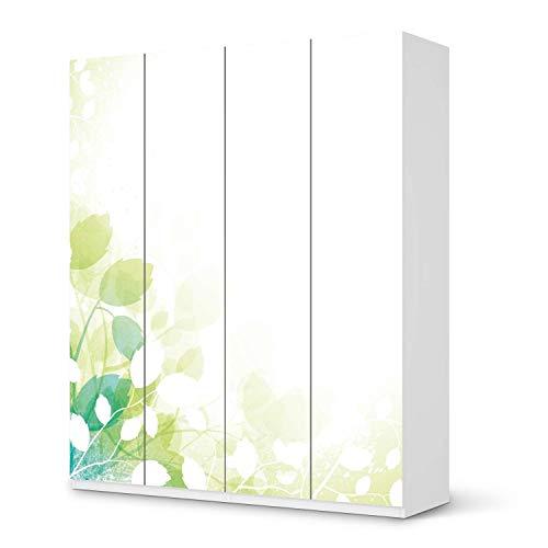 creatisto Möbel-Folie passend für IKEA Pax Schrank 236 cm Höhe - 4 Türen I Möbeldekoration - Möbel-Sticker Aufkleber Folie I Deko Wohnung für Wohnzimmer, Schlafzimmer - Design: Flower Light