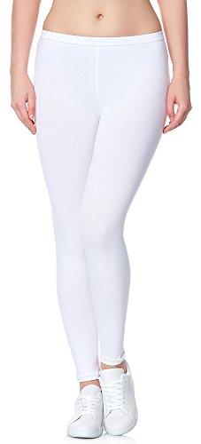 Ladeheid Leggins Pantalones Largos Ropa Deportiva Mujer LAMA02 (Blanco11, S/M)