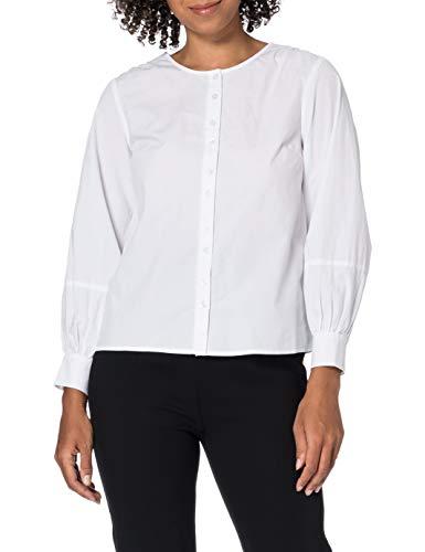 PIECES Damen PCGERALDINE 7/8 Shirt BC Bluse, Bright White, S