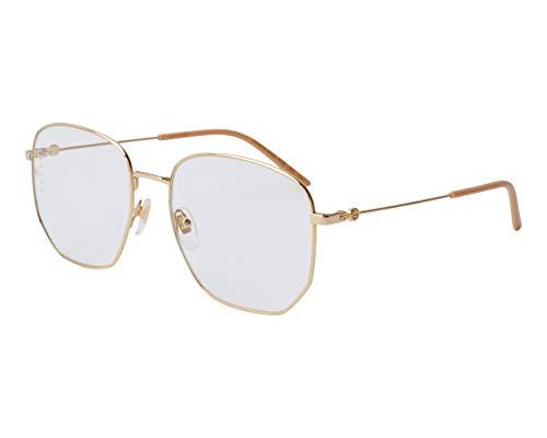 Gucci GG0396S-001-56 Gafas, Amarillo, 56.0 Unisex Adulto
