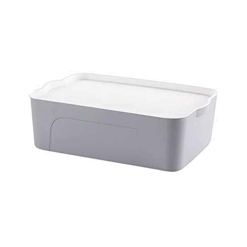 donfhfey827 Caja de Almacenamiento de Escritorio Caja de Acabado de plástico Caja de Almacenamiento de Ropa Caja de Almacenamiento de Juguetes Aperitivos