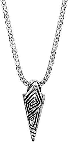 LBBYMX Co.,ltd Collar de Moda, Collar con Dije, símbolo, Collar de Cadena de Acero Inoxidable, joyería para Hombres, Regalos, Collar, Cadena Colgante para Mujeres y Hombres
