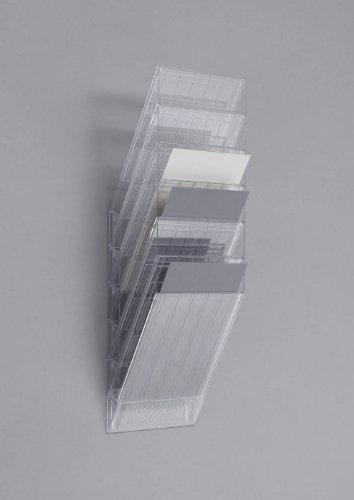 Preisvergleich Produktbild Durable 1709760400 Prospektspenderset (Flexiboxx 6 A4) 1 Set transparent
