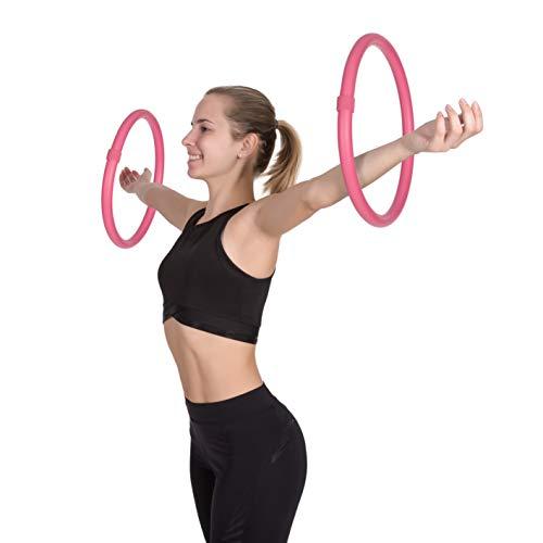 Arm Hoop, Mini Hula Hoop Set mit Schaumstoffüberzug, 2-teilig, je 0,25kg (Pink)