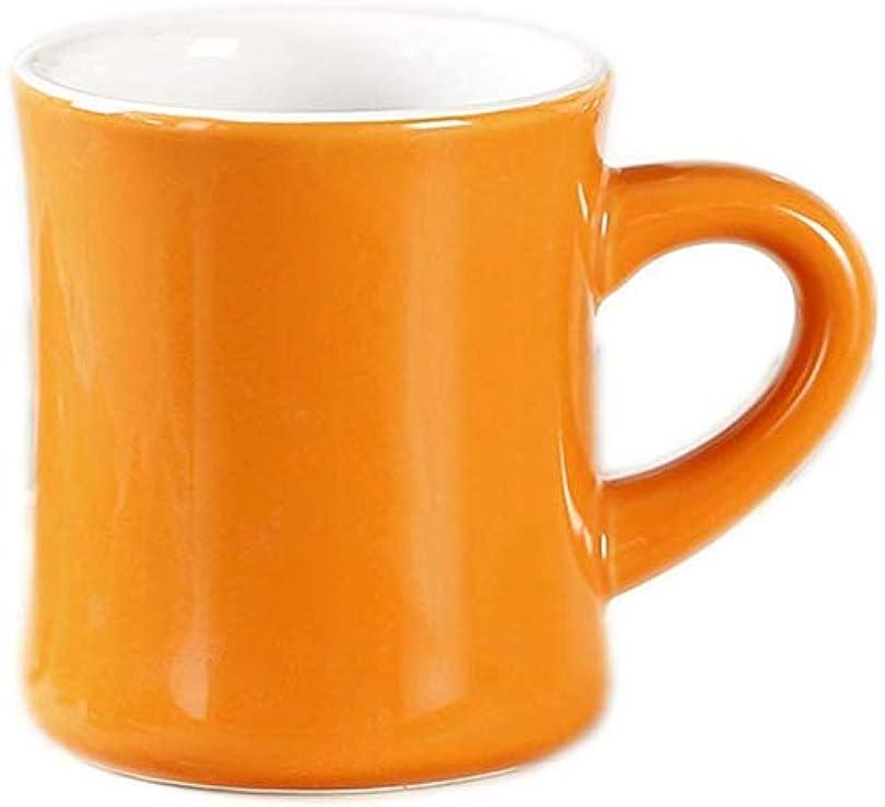 シエスタ宿命幹350mlピュアエスプレッソアメリカーノコーヒーカップセットグレーズセラミックマグヨーロピアンラグジュアリーラテファンシーコーヒーカップマグカップカプチーノティーカップセット8mm厚(オレンジ)