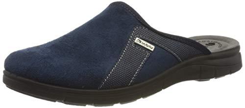 inblu Big Jim, Pantofole Aperte sul Retro Uomo, Blu (Blu 004), 40 EU