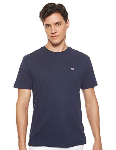 Tommy_Jeans Herren TJM Tommy Classics Tee T shirt, Blau (Black IRIS 002), Large