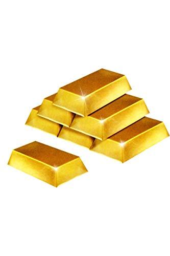 Goldbarren-Dekorationen, 6 Stück