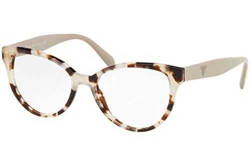 Prada 0PR 01UV Monturas de gafas, Spotted Opal Brown, 52 para Mujer