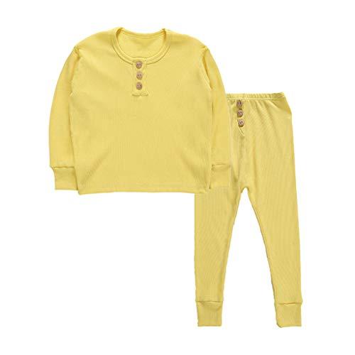Baby Meisjes Jongens Slaapmode Outfits Peuter Kinderen Pyjama Sets Lange Mouw Sweatshirt Tops+Broek Broek Pyjama Nachtkleding 2 Stks Kleding Sets Tracksuit Warm Kleding voor 2-7 Jaar