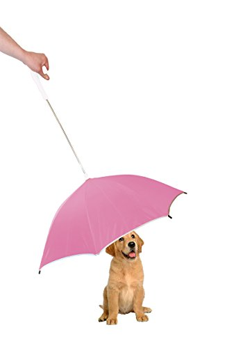 PET LIFE Pour-Protection Rain Pet Dog Umbrella with Reflective Lining and Leash Connector, One Size,...