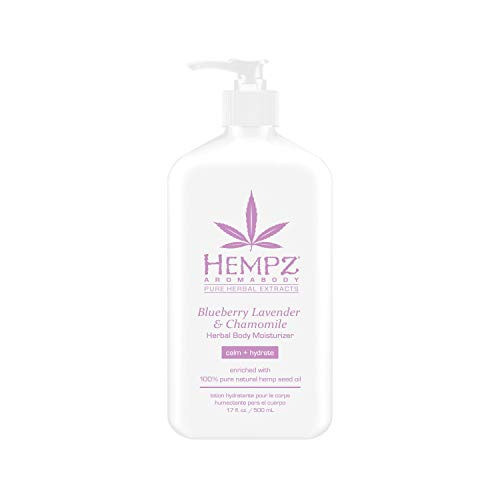 Hempz Blueberry Lavender & Chamomile Herbal Body Moisturizer, 17 Fl Oz, Pack of 1