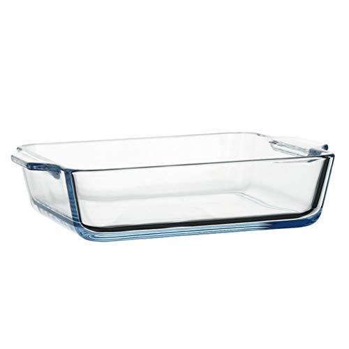 Doitool Plato de Vidrio Transparente para Hornear 800Ml para Horno Recipiente de Vidrio para Cocinar Cazuela para Hornear Recipiente de Vidrio para Hornear Pastel de Manzana Pastel de