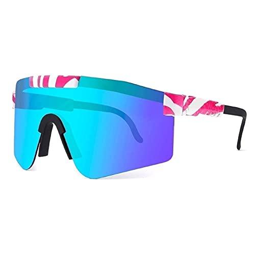 Huabei2 Gafas de Sol Deportivas polarizadas, Gafas de Ciclismo de Pit -vilipers al Aire Libre, para Correr montañismo de Golf Vacaciones de Vacaciones de Vacaciones Pesca de Senderismo (Color : A4)