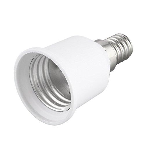 Olddreaming - Adaptador de casquillo de lámpara - E14 a E27 - Portalámparas profesional - Adaptador de casquillo para bombillas LED halógenas de bajo consumo