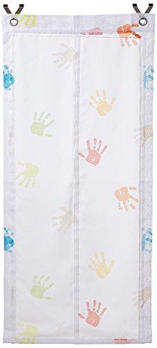 Raffrollo/Ösenrollo Kinder Hände weiss/bunt 45/60/80/100 x 130 cm ohne bohren (ca. 60*130 cm)