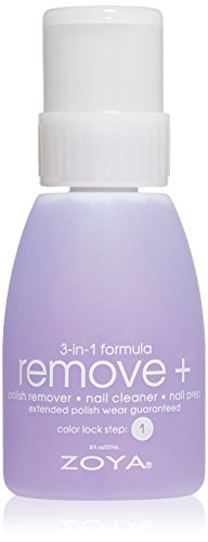 ZOYA Remove Plus 3 in 1 Formula - Polish Remover, Nail Cleaner, Nail Prep, 8 Fl Oz