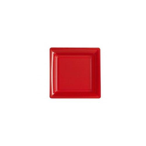 Assiette Carrée 29 x 29 cm Rouge (Lot de 12)