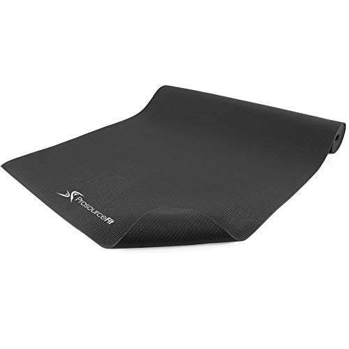 ProsourceFit Classic Yoga Mat 1/8 (3mm) Thick, Black