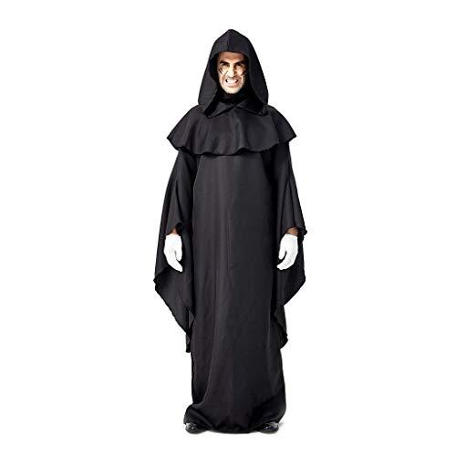Geilisungren Disfraz de Halloween Capa con Capucha Capa Disfraz de Caballero Cool Cosplay Disfraz para Traje de Halloween