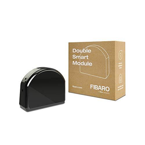 FIBARO Double Smart Module/Z-Wave Plus Relaisschalter, Drahtloser Ein-Aus-Auslöser, FGS-224