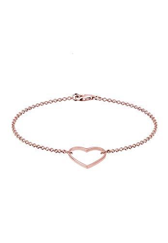 Elli Pulseras Mujer Colgante Corazón Básico en Plata Esterlina 925
