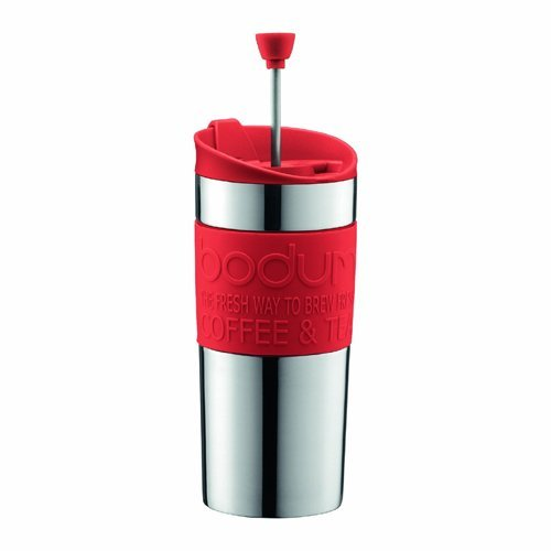 Bodum K11067-294 Kaffeebereiter 0.35 l rot TRAVEL Press