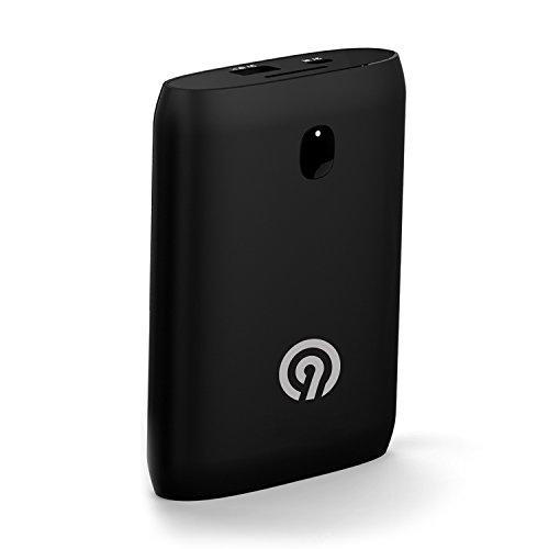 NINETEC NT-589 11.200mAh Power Bank mit Soft-Touch Oberfläche schwarz - externer Akku für Smartphone & Tablet-PC