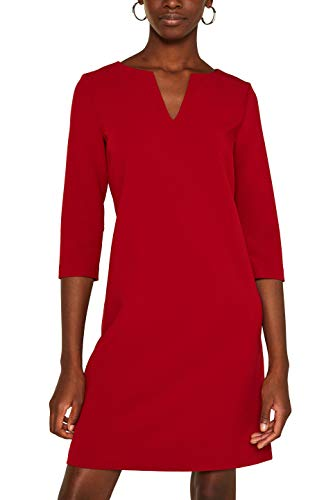 ESPRIT Collection Damen 119EO1E033 Kleid, Rot (Dark Red 610), (Herstellergröße: 34)