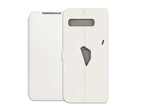 etuo Hülle für Asus ROG Phone 3 - Hülle Wallet Book - Weiß Handyhülle Schutzhülle Etui Hülle Cover Tasche für Handy