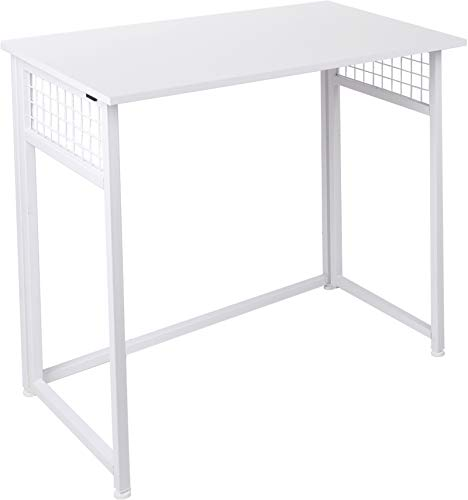 Folding Computer Desk, White Simple Space-Saving Home Office Desk, Computer Table, Laptop Table, Writing Desk, Compact Study Reading Table, Foldable Computer Desk by DoBeesin