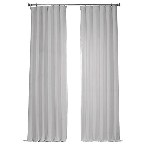 HPD Half Price Drapes LN-XS17 French Linen Curtain (1 Panel), 50 X 84, Crisp White