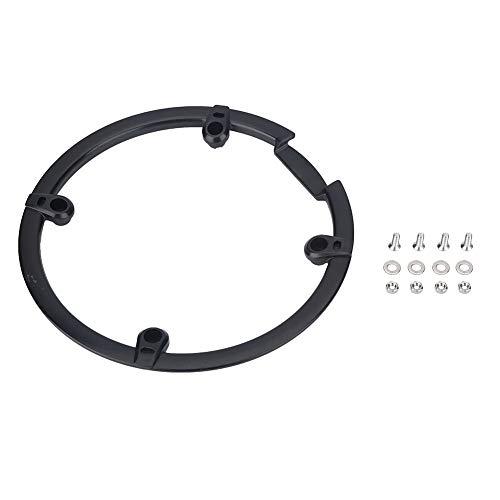 MAGT Fahrrad Kettenschutz Schutz, 44T Pinion Kurbeln Schutzabdeckung 44 Getriebe Integrierte Kettenblatt Kettenführung (Farbe : Black)