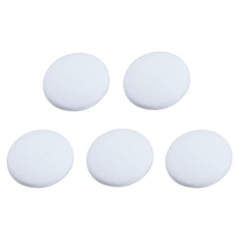 GrunCourt Silicon Wall Protectors Self Adhesive Door Stopper Door Handle Bumper Guard Stopper Rubber Stop White 5 Pcs